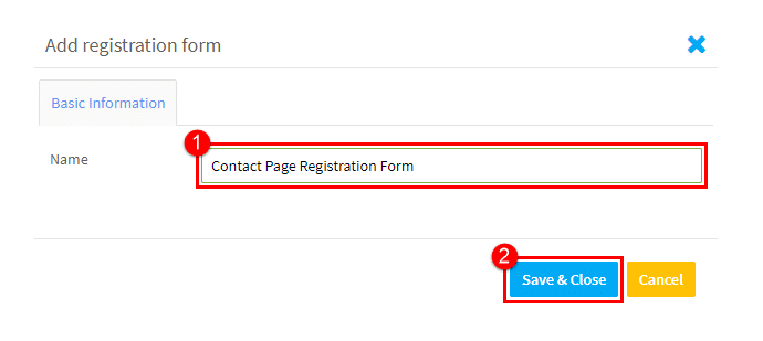 name registration form