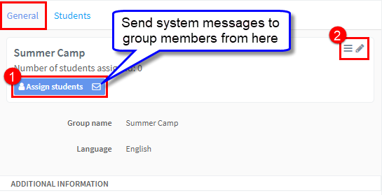 assign students to contact group