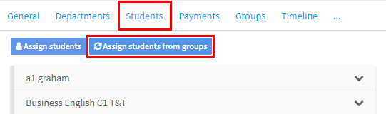 Assign students from groups