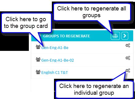 Groups to Regenerate